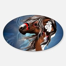 Paint Horse and Feathers-Yardsign Decal