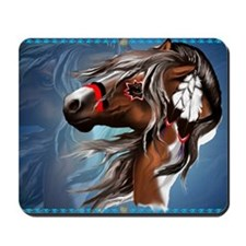Paint Horse and Feathers-Yardsign Mousepad