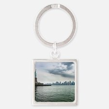 New York Square Keychain