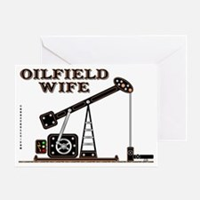 Oilfield Wife2 Zed A4 Test using3 Greeting Card
