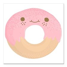 "donut Square Car Magnet 3"" x 3"""