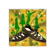 "IRISH DANCE Square Sticker 3"" x 3"""