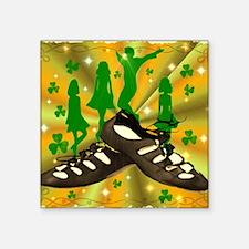 "IRISH DANCE Square Sticker 3"" x 3"""
