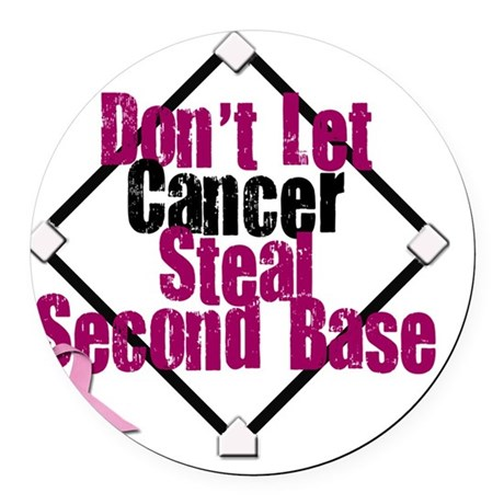 steal second base Round Car Magnet