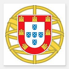 "portugal5 Square Car Magnet 3"" x 3"""