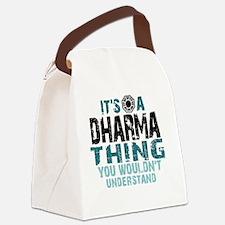 Dharma Thing Btn Canvas Lunch Bag