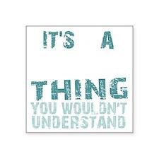 """Dharma Thing -bk Square Sticker 3"""" x 3"""""""
