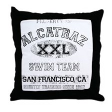 alcatraz dark Throw Pillow