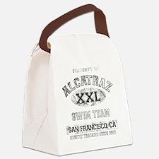alcatraz dark Canvas Lunch Bag