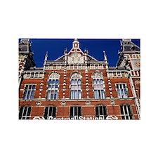 Amsterdam Central Station Rectangle Magnet
