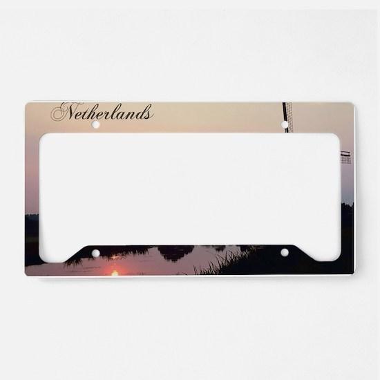 WindmillNetherlands1 License Plate Holder