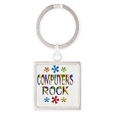 COMPUTERS Square Keychain