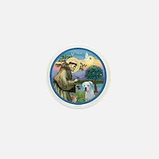 R-StFrancis-White Boxer (W) Mini Button