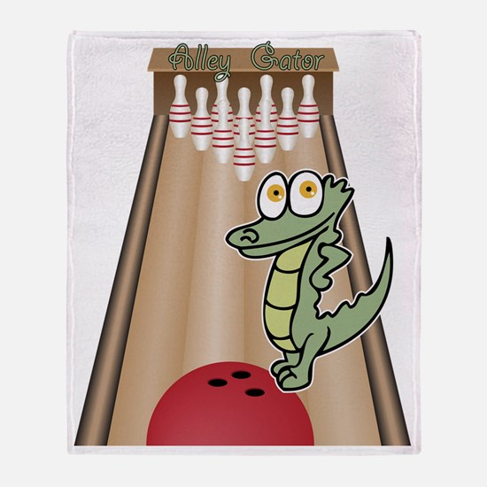 alleygator Throw Blanket