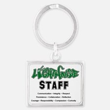 lighthouse staff front of shirt Landscape Keychain