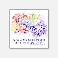"raindrops 2 Square Sticker 3"" x 3"""
