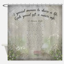Coal miner%27s wife Shower Curtain