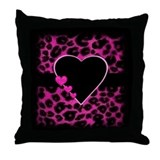 Leopard heart pillows Throw Pillows