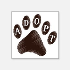 "2-adopt claw Square Sticker 3"" x 3"""