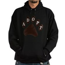 2-adopt claw Hoodie