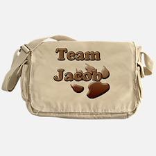 team jacob with paw 2 copy Messenger Bag