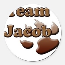 team jacob with paw 2 copy Round Car Magnet