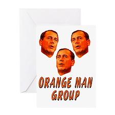 Orange man group3 Greeting Card