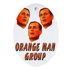 Orange man group3 Oval Ornament