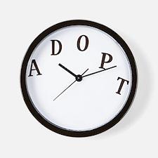 2-adopt claw_dark Wall Clock
