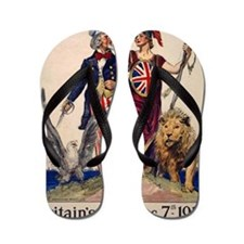Title- Side by Side--Flagg - by the Ame Flip Flops