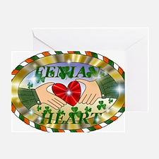 FENIAN HEART Greeting Card
