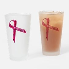 survivor  pinkcopy Drinking Glass