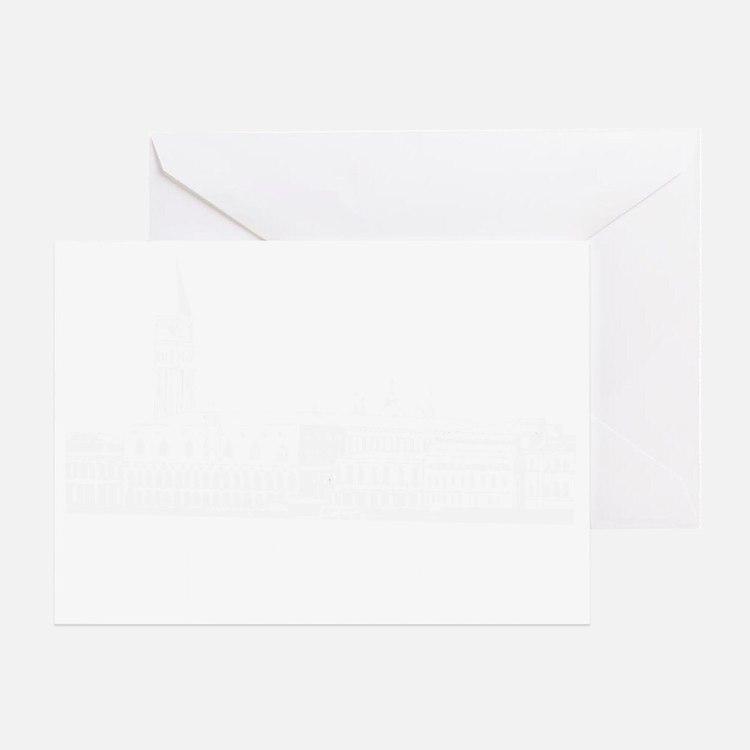 venice1Bk Greeting Card
