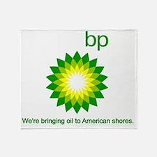 BP Oil Spill Throw Blanket