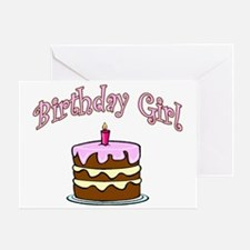 birthday girl 1 Greeting Card