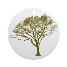 Green Tree Round Ornament