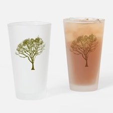 Green Tree Drinking Glass