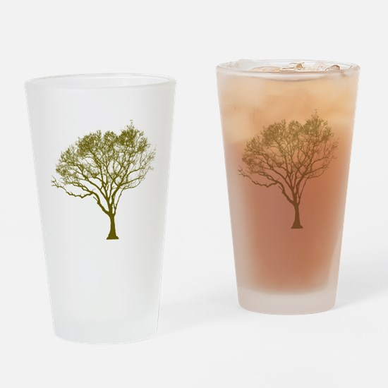Green Tree Drinking Glass