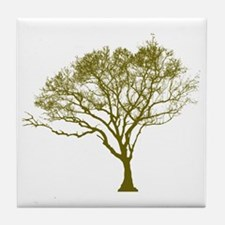 Green Tree Tile Coaster