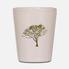 Green Tree Shot Glass