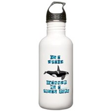 WhaleTblk copy Water Bottle