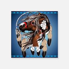 """Paint Horse Dreamcatcher_mp Square Sticker 3"""" x 3"""""""
