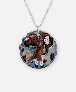 Paint Horse Dreamcatcher_mpa Necklace