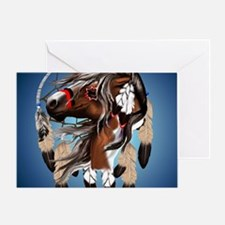 Paint Horse Dreamcatcher_mpad Greeting Card