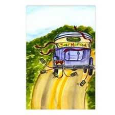 JUST MARRIED TALL FAT Postcards (Package of 8)