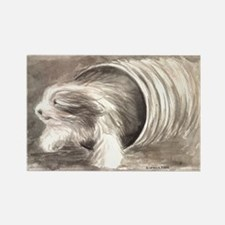 Funny Bearded collie Rectangle Magnet (10 pack)
