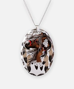 Paint Horse Dreamcathcer Trans Necklace