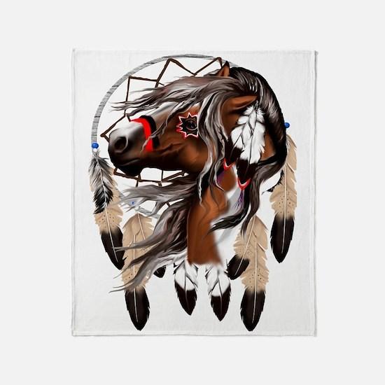 Paint Horse Dreamcathcer Trans Throw Blanket