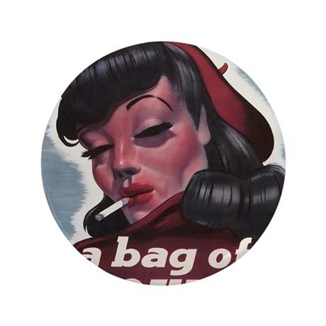 """Bag of Trouble 3.5"""" Button"""