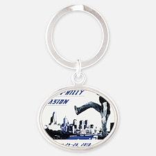 Falty Shirt Oval Keychain